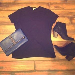 J. Crew Large Basic Black T-shirt